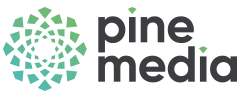 Green variant of the Pine Media Logo
