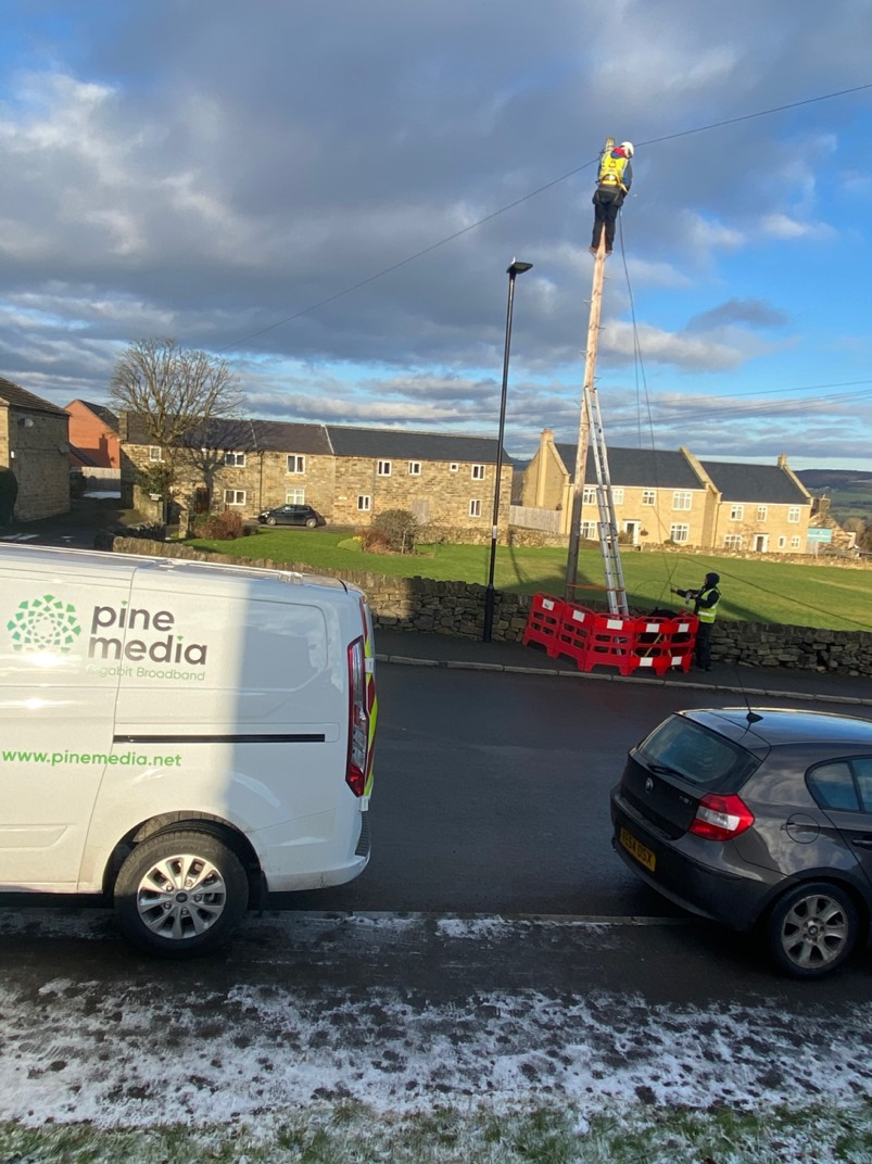 First Rural Gigabit Customers Connected in Bradfield